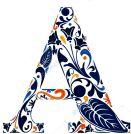a capital floral dark blue sin marco